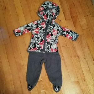 Disney Baby Mickey's set of pants and hoodie. 3/6